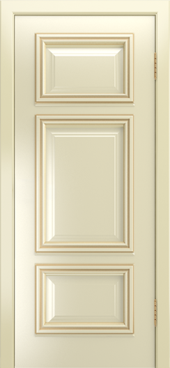 Двери Лайндор Афина Д эмаль бисквит патина золото