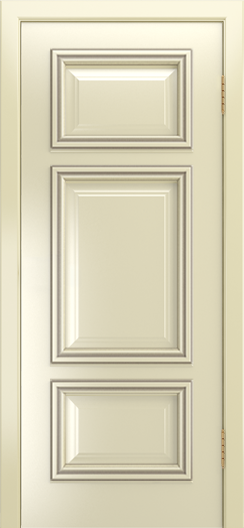 Двери Лайндор Афина Д эмаль бисквит патина серебро