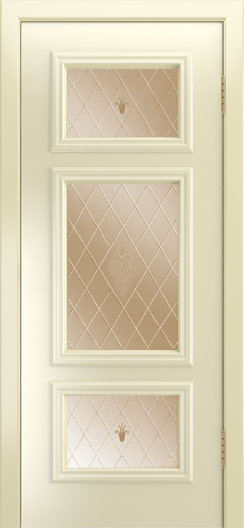 Двери Лайндор Афина Д эмаль бисквит стекло Лилия бронза