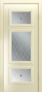Двери Лайндор Афина Д эмаль бисквит стекло Лилия светлое