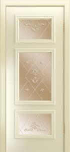 Двери Лайндор Афина Д эмаль бисквит стекло Прима бронза
