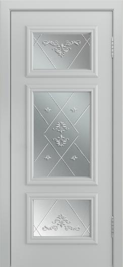 Двери Лайндор Афина Д эмаль серая стекло Прима