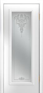 Двери Лайндор Валенсия Д эмаль белая стекло Версаль