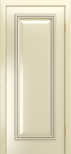 Двери Лайндор Валенсия Д эмаль бисквит патина серебро