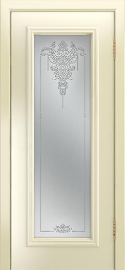 Двери Лайндор Валенсия Д эмаль бисквит стекло Версаль
