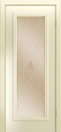 Двери Лайндор Валенсия Д эмаль бисквит стекло Лилия бронза