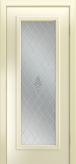 Двери Лайндор Валенсия Д эмаль бисквит стекло Лилия светлое