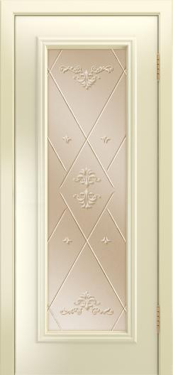 Двери Лайндор Валенсия Д эмаль бисквит стекло Прима бронза