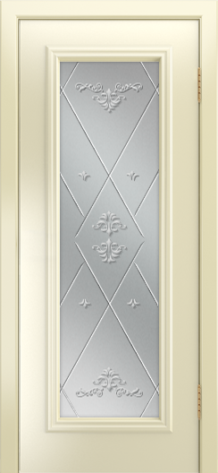 Двери Лайндор Валенсия Д эмаль бисквит стекло Прима