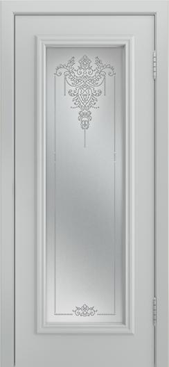 Двери Лайндор Валенсия Д эмаль серая стекло Версаль