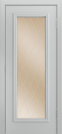 Двери Лайндор Валенсия Д эмаль серая стекло Лондон бронза