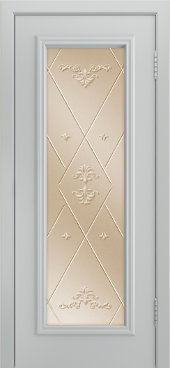 Двери Лайндор Валенсия Д эмаль серая стекло Прима бронза