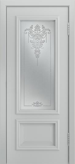 Двери Лайндор Виолетта Д эмаль серая стекло Версаль
