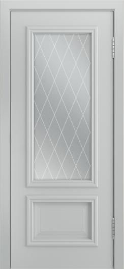 Двери Лайндор Виолетта Д эмаль серая стекло Лондон светлое