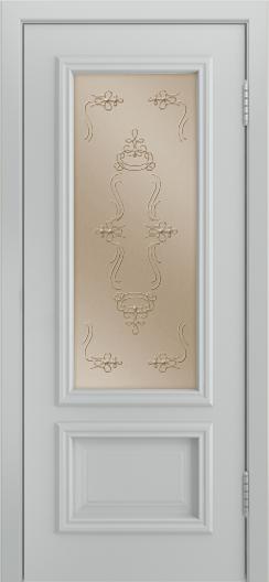 Двери Лайндор Виолетта Д эмаль серая стекло Пальмира бронза