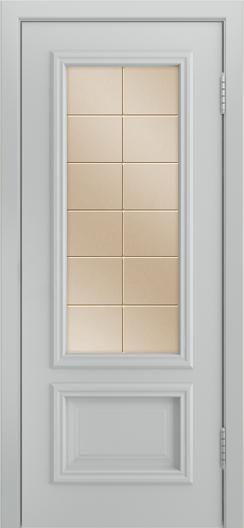 Двери Лайндор Виолетта Д эмаль серая стекло Решетка бронза
