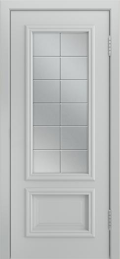 Двери Лайндор Виолетта Д эмаль серая стекло Решетка