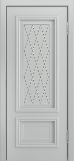 Двери Лайндор Виолетта Д эмаль серая фрезеровка филенок Лондон патина серая