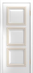 Двери Лайндор Грация Д эмаль белая патина золото