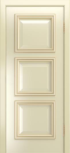 Двери Лайндор Грация Д эмаль бисквит патина золото