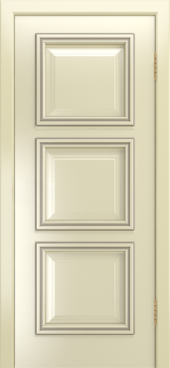 Двери Лайндор Грация Д эмаль бисквит патина серебро