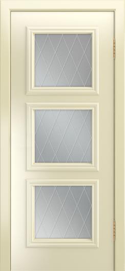 Двери Лайндор Грация Д эмаль бисквит стекло Лондон