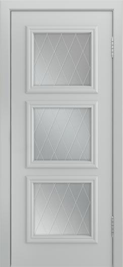 Двери Лайндор Грация Д эмаль серая стекло Лондон
