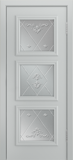 Двери Лайндор Грация Д эмаль серая стекло Прима