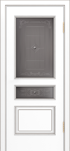 Двери Лайндор Калина П эмаль белая стекло Калина