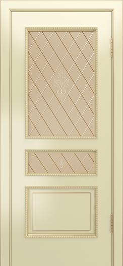Двери Лайндор Калина П эмаль бисквит стекло Лилия бронза