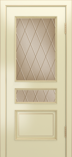 Двери Лайндор Калина П эмаль бисквит стекло Лондон бронза