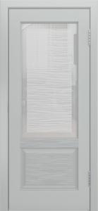 Двери Лайндор Эстелла К эмаль серая стекло Волна
