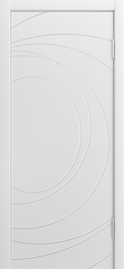 Двери Лайндор Ника Ф2 Сфера эмаль Белая