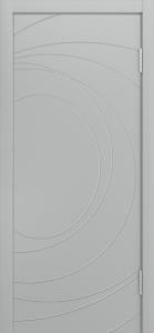 Двери Лайндор Ника Ф2 Сфера эмаль Серая
