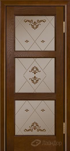 Двери ЛайнДор Грация К тон 30 стекло Прима бронза