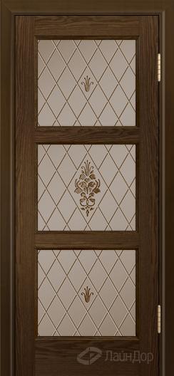 Двери ЛайнДор Грация К тон 35 стекло Лилия бронза