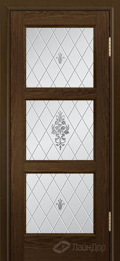 Двери ЛайнДор Грация К тон 35 стекло Лилия светлое