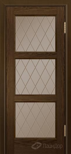 Двери ЛайнДор Грация К тон 35 стекло Лондон бронза