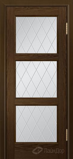 Двери ЛайнДор Грация К тон 35 стекло Лондон светлое
