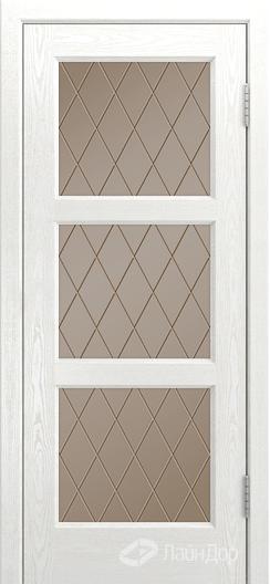 Двери ЛайнДор Грация К тон 38 стекло Лондон бронза