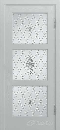 Двери ЛайнДор Грация К тон 46 стекло Лилия светлое
