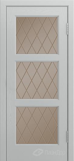 Двери ЛайнДор Грация К тон 46 стекло Лондон бронза