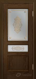 Двери ЛайнДор Калина К тон 35 стекло Дамаск