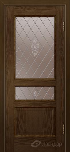 Двери ЛайнДор Калина К тон 35 стекло Лилия-бронза