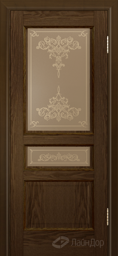 Двери ЛайнДор Калина К тон 35 стекло Лира бронза