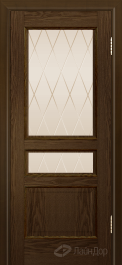 Двери ЛайнДор Калина К тон 35 стекло Лондон бронза