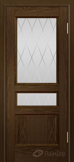 Двери ЛайнДор Калина К тон 35 стекло Лондон