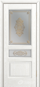 Двери ЛайнДор Калина К тон 38 стекло Дамаск