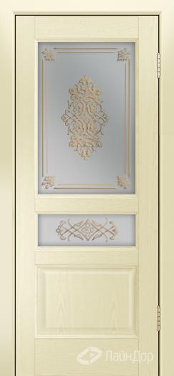Двери ЛайнДор Калина К тон 42 стекло Дамаск