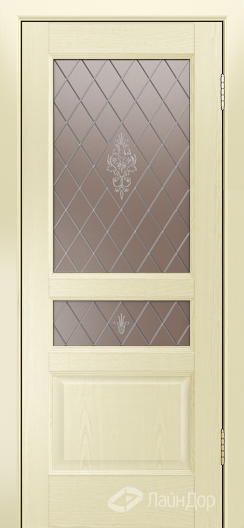 Двери ЛайнДор Калина К тон 42 стекло Лилия-бронза